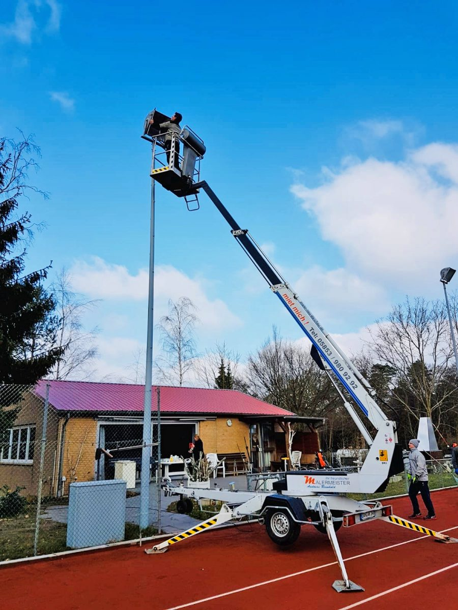 Arbeitseinsatz der Mitglieder im Tennis Club Alt Garge März 2020